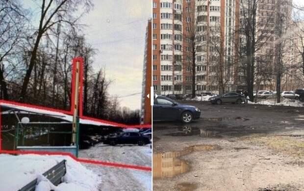 В проезде Шокальского ликвидировали незаконную автостоянку