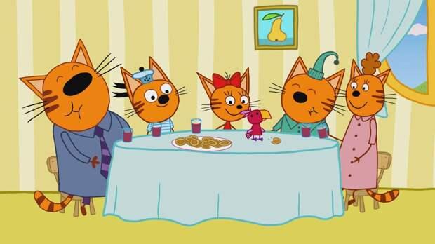 Спецвыпуск мультсериала «Три кота» выйдет в прокат в следующем году