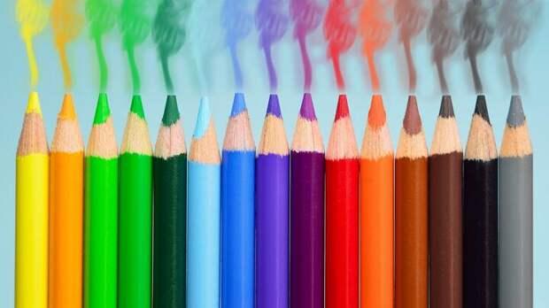 Карандаши разноцветные