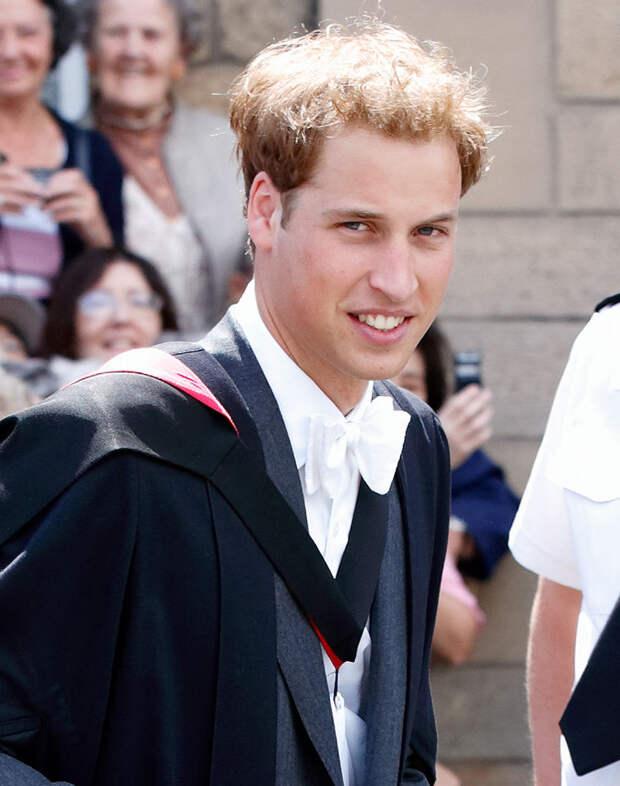 Принц Уильям студент
