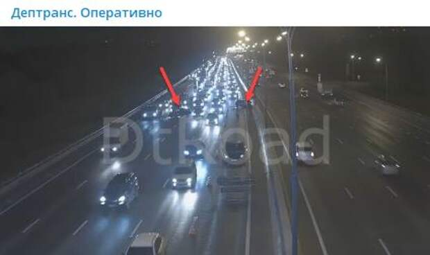 На МКАД между Дмитровским и Алтуфьевским шоссе произошла авария