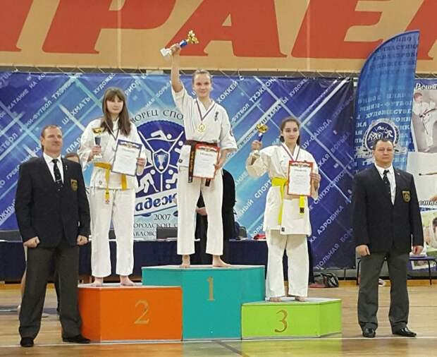 Каратистка из Северного взяла золото в турнире городского округа Павловский Посад