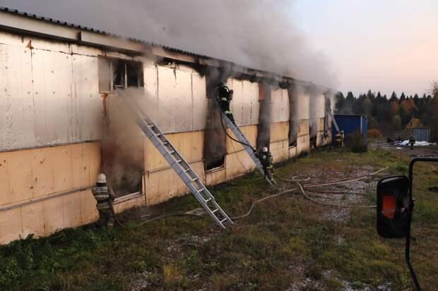 Причиной пожара на складе под Ижевском стала ошибка при выполнении сварочных работ