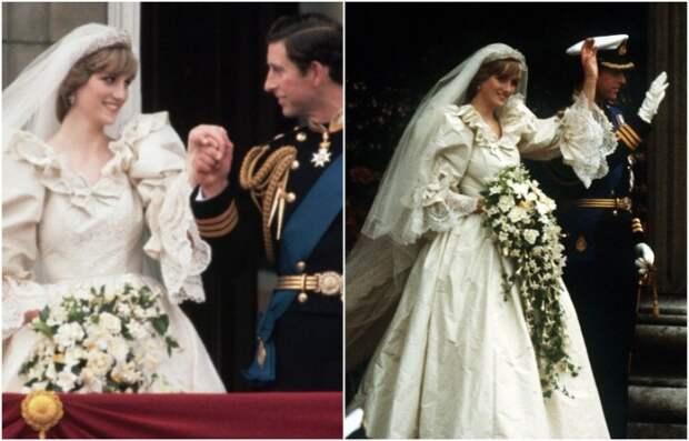 Когда Диана ехала в карете, она сильно помяла свадебное платье