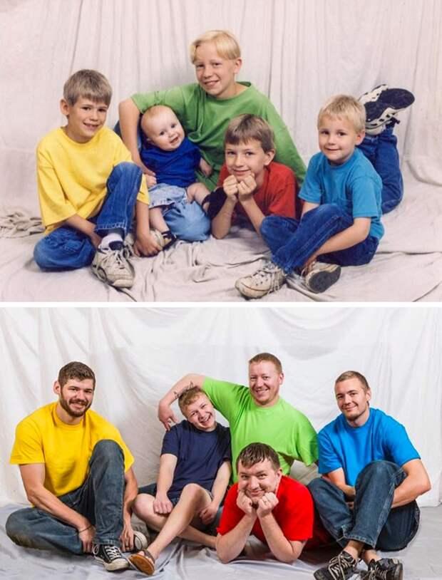 Флешмоб: повторить старые снимки из семейного альбома