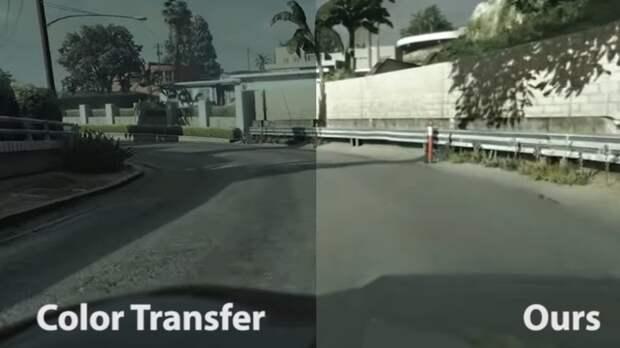 Нейросеть научили превращать кадры из GTA V в реалистичное видео