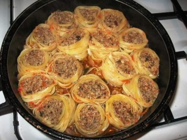 Гнезда на сковороде Кулинария, Рецепт, Еда