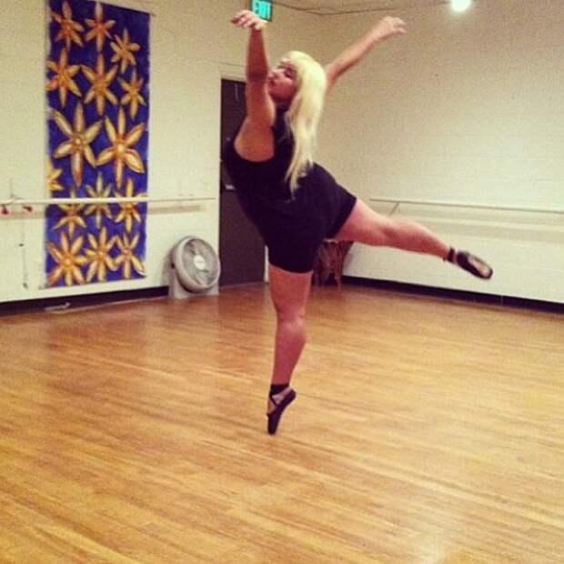 Балерина с роскошными формами ломает шаблоны