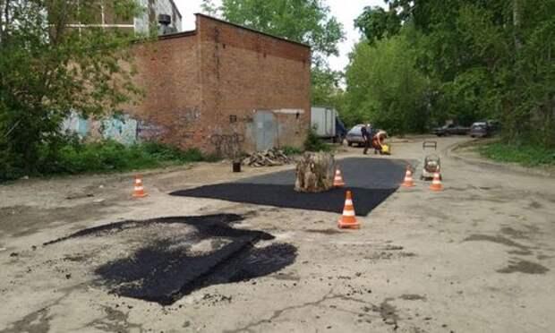 Через пень-колоду: «мастер-класс» от дорожных рабочих Екатеринбурга