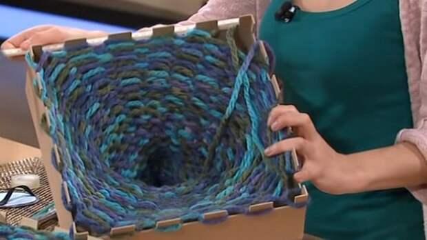 Ультрамодный шарф-хомут с помощью самой простой и быстрой техники