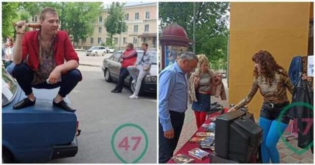 В Волхове голосующих встречают братки на «бэхах» под хиты лихих девяностых (6 фото + 3 видео)