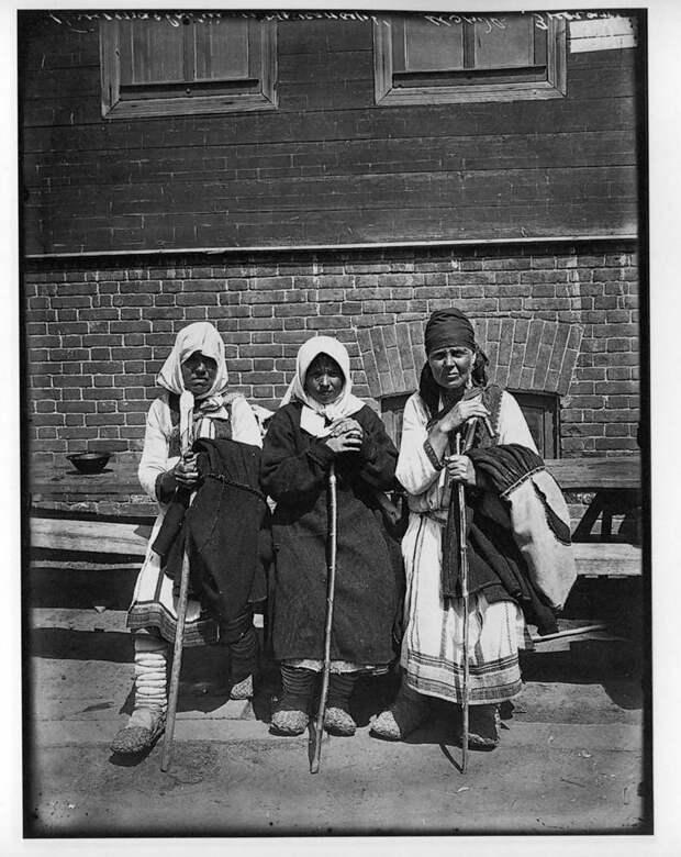 Богомолки. Серафимо-Понетаевский женский монастырь, 1904 г. История в фотографиях, россия