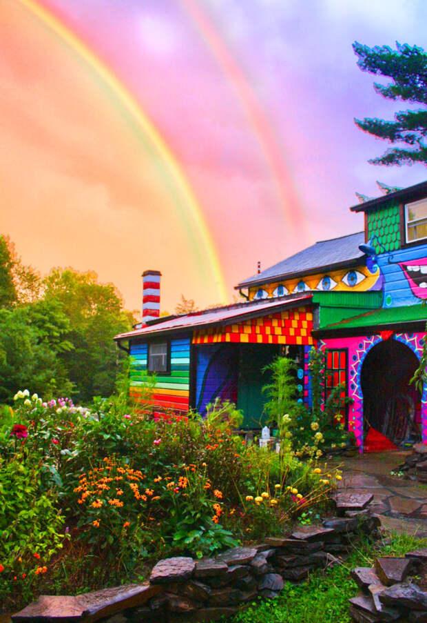 Яркий и радостный «ситцевый» дом