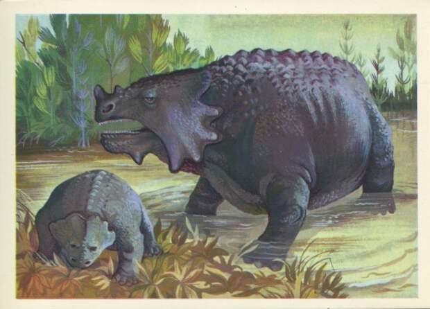 Сответские открытки.  Динозавры
