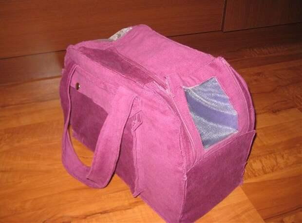 Выкройка-сумки переноски с окном