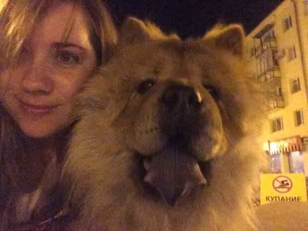 Мы с Самантой на ночной прогулке