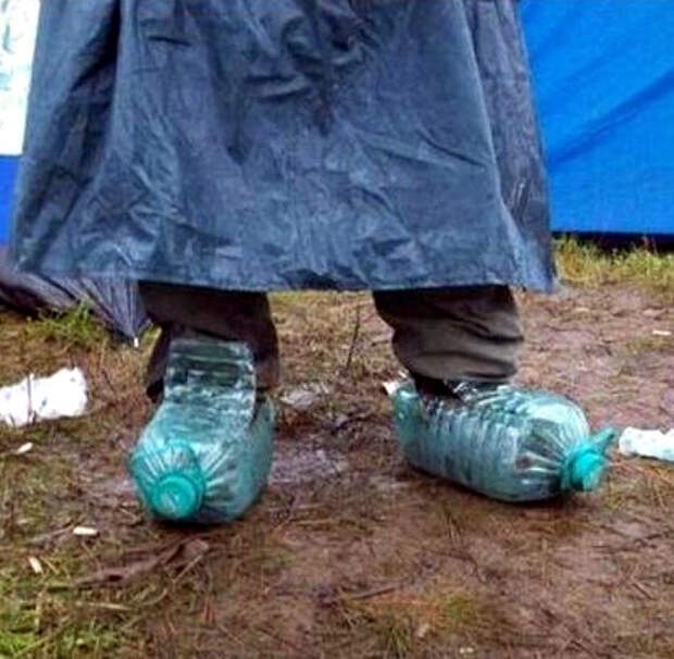 Ботинки из бутылок.