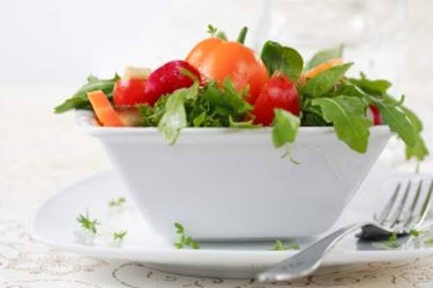 раздельное питание салат