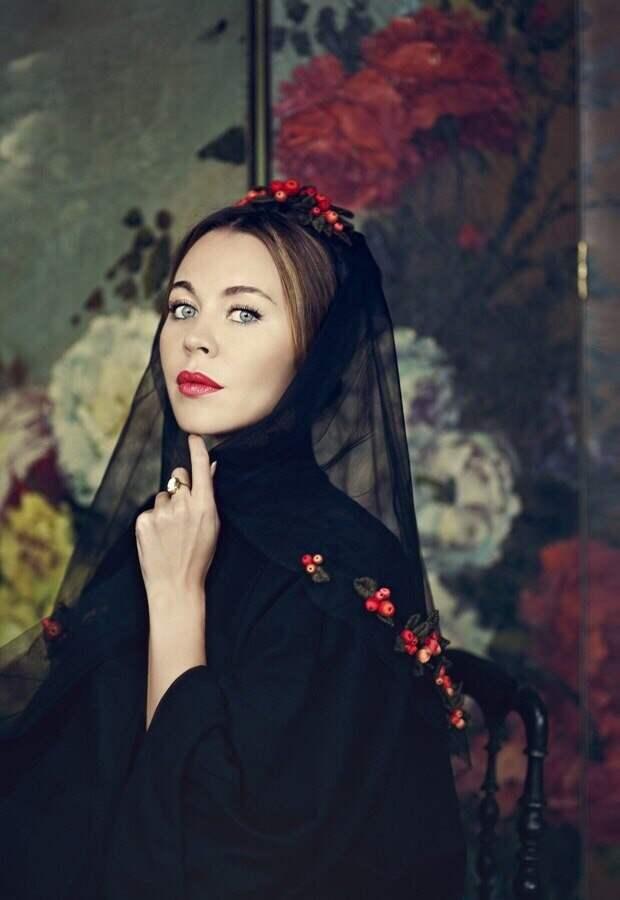Косынка с рябиной Ulyana Sergeenko Couture