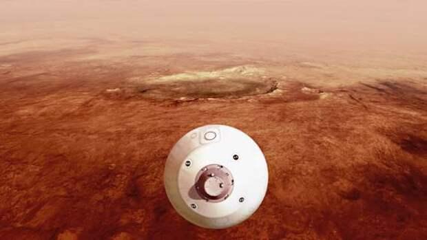 НАСА посадило на поверхность Марса вездеход Perseverance, оборудованный вертолетом для полета на другую планету