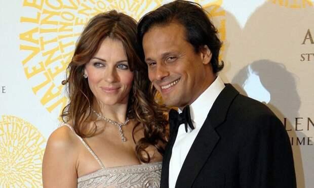 Элизабет Херли с мужем Аруном Найяр