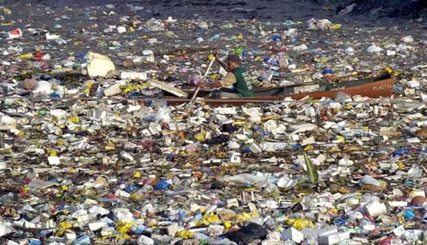 остров из пластика