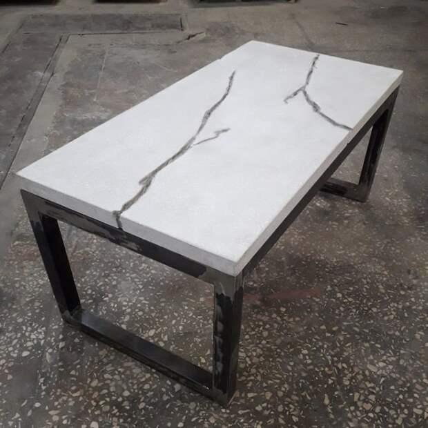 Стол из бетона бетон, дизайнерские штучки, из бетона, крутые штуки, необычно, необычные вещи