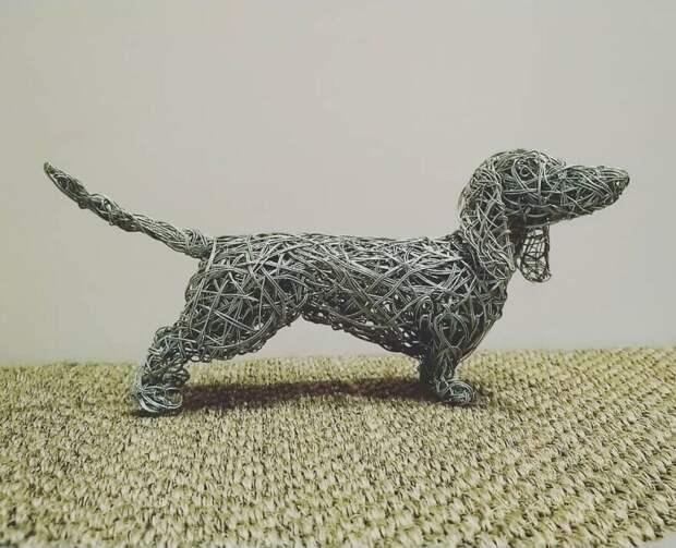 25 удивительных скульптур животных, сплетенных из проволоки