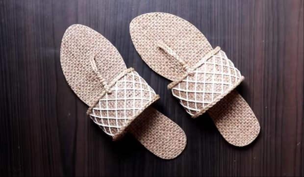 Как из простого джута сделать стильную и удобную летнюю обувь