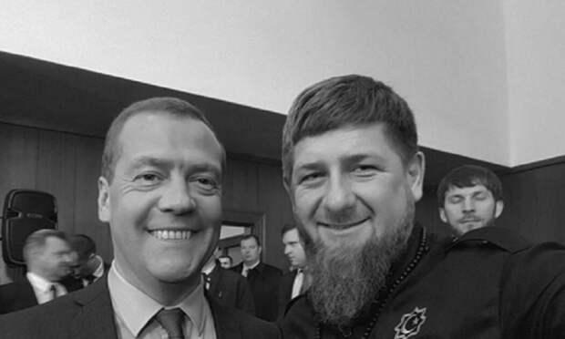 Кадыров сделал селфи с Медведевым