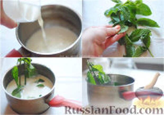Фото приготовления рецепта: Мятное молоко - шаг №1