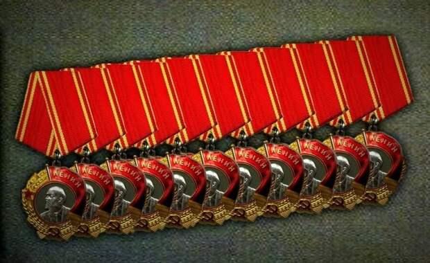 Кем были 11-кратные кавалеры ордена Ленина