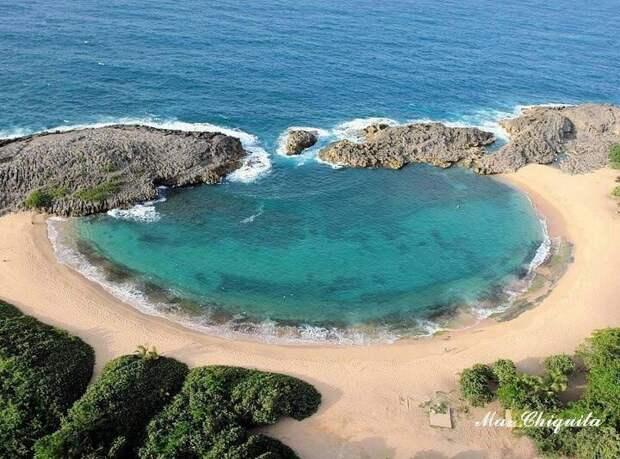 Мар-Чикита — необычный пляж в Пуэрто-Рико