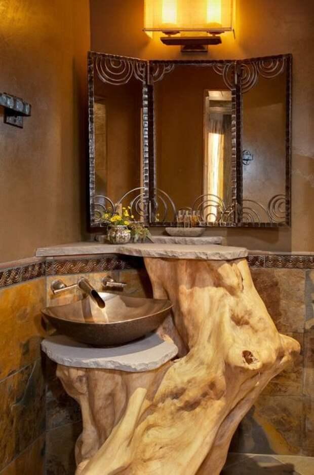 Дерево в ванной