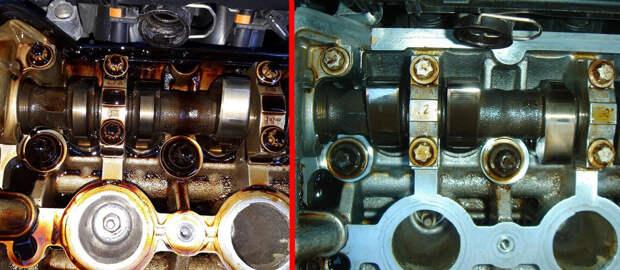 Двигатель до и после раскоксовки димексидом: сравниваем