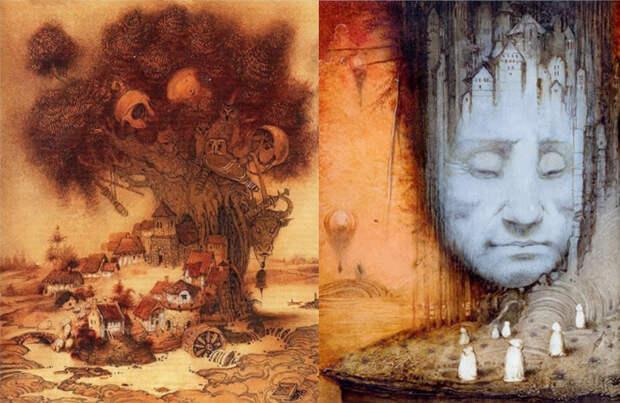 Иллюстрации к книгам Толкиена.