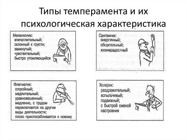 ТИПЫ ТЕМПЕРАМЕНТОВ И ИХ ПСИХОЛОГИЧЕСКАЯ ХАРАКТЕРИСТИКА