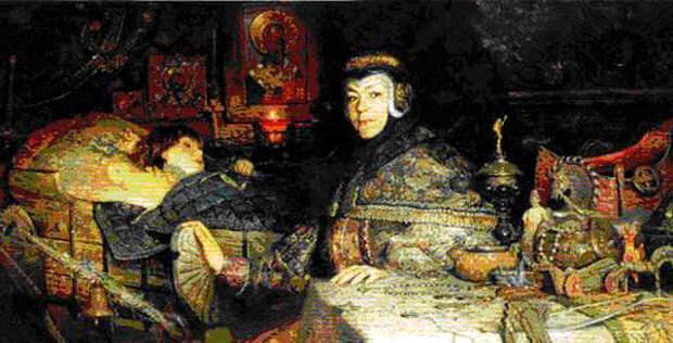 П. Рыженко. Наталья Нарышкина с младенцем Петром.