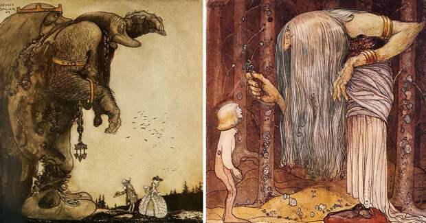 40 сказочных иллюстраций столетней давности от волшебника Йона Бауэра