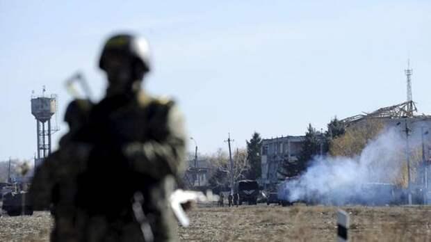 На подконтрольной Киеву территории Донбасса горит военная база