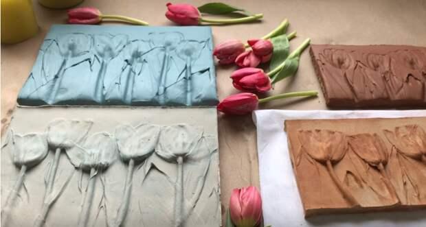 Удивительно красивая и простая техника для создания объемных картин