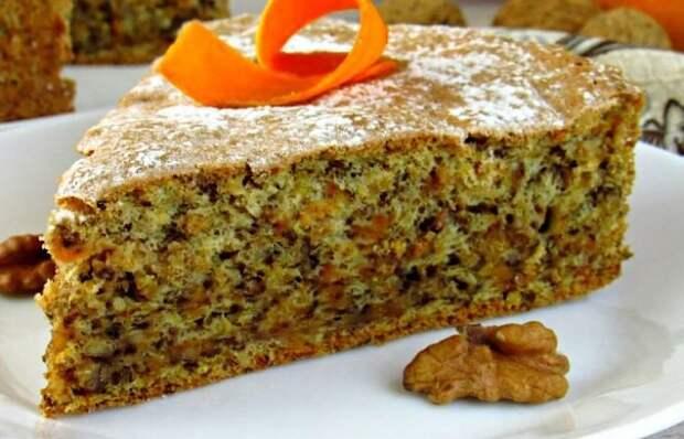 Бесподобный тыквенный пирог с орехами