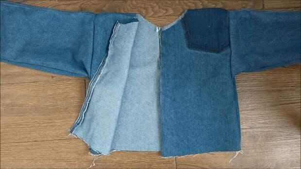 Стильная и необычная переделка старых джинсов