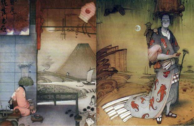 Иллюстрации к японским сказкам покорили публику по всему миру.