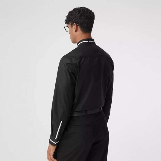 Детали мужских рубашек Burberry