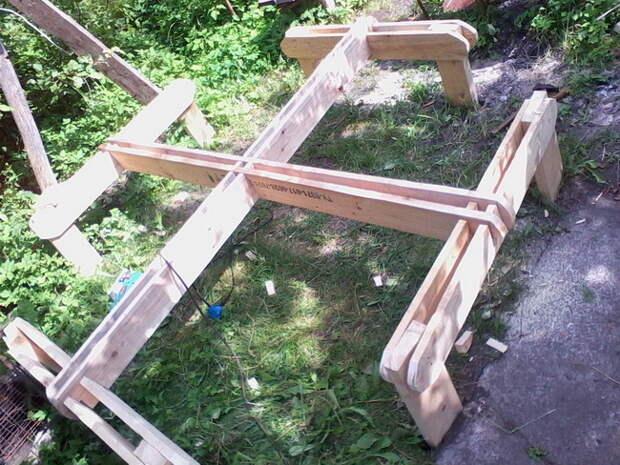 Дачный столик с сидушками своими руками от Тимура
