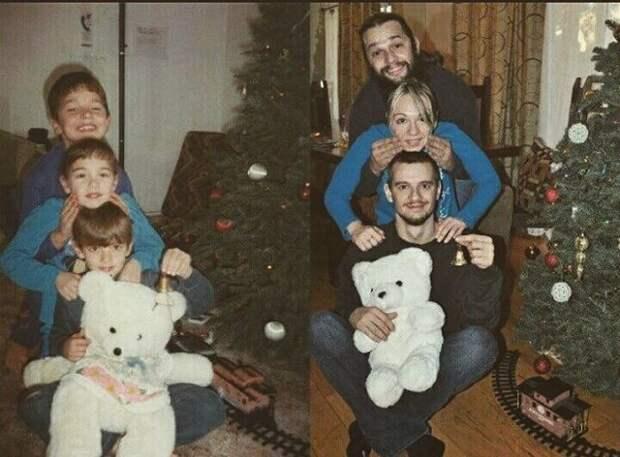18 теплых семейных фотографий, снятых спустя годы люди, семья