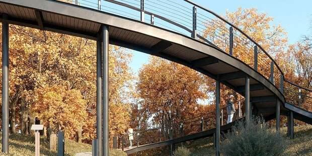 Экотропу со смотровыми площадками и качелями откроют в будущем парке «Яуза» в сентябре
