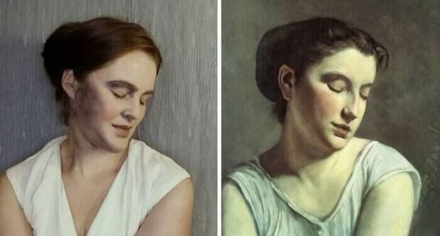 """3. Фредерик Базиль """"Молодая женщина с опущенными глазами"""" (1869)"""