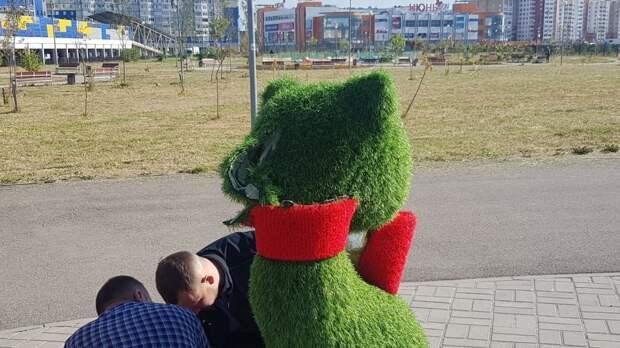 Задержан юноша, свернувший голову зеленому коту в парке «Серпантин»